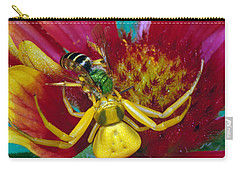 Goldenrod Crab Spider Misumena Vatia Carry-all Pouch by Panoramic Images