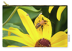 Carry-all Pouch featuring the photograph Goldenrod Soldier Beetle by Ricky L Jones
