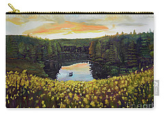 Goldenrods On Davenport Lake-ellijay, Ga  Carry-all Pouch by Jan Dappen