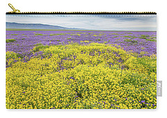 Carry-all Pouch featuring the photograph Goldfield And Phacelia by Marc Crumpler