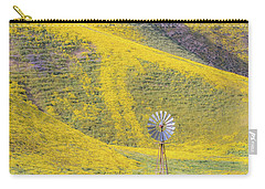 Goldfields And Windmill At Carrizo Plain  Carry-all Pouch