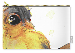 Carry-all Pouch featuring the painting Goldfinch by Dawn Derman