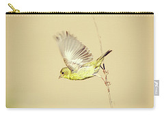 Goldfinch Flying Off  Carry-all Pouch