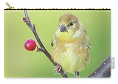 Goldfinch In The Backyard Carry-all Pouch