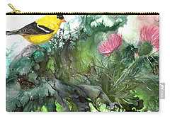 Carry-all Pouch featuring the painting Goldfinch by Sherry Shipley