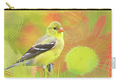 Carry-all Pouch featuring the photograph Goldfinch Watercolor Photo by Heidi Hermes