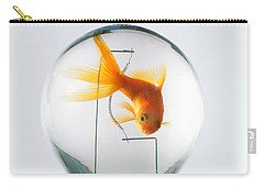 Goldfish In Light Bulb  Carry-all Pouch by Garry Gay