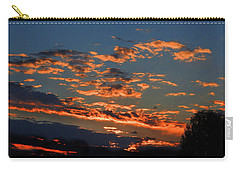 Carry-all Pouch featuring the photograph Goldflake Sunset by Mark Blauhoefer