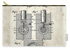 Golf Ball Patent Drawing Vintage 2 Carry-all Pouch