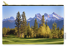 Golf Course In The Mountains Carry-all Pouch by Keith Boone