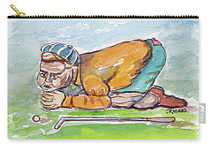 Golfer With Hot Air Carry-all Pouch