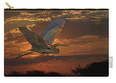 Goliath Heron At Sunset Carry-all Pouch