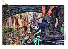 Carry-all Pouch featuring the photograph Gondola 2 by Allen Beatty