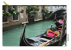 Gondola By The Restaurant Carry-all Pouch by Donna Corless