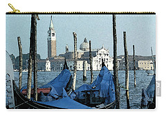 Carry-all Pouch featuring the digital art Gondolas Across San Giorgio by Donna Corless