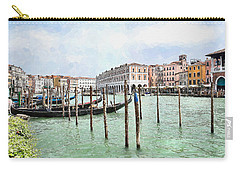 Gondolas At Hotel Ca' Sagredo Carry-all Pouch by Kai Saarto