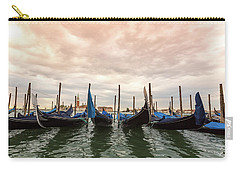 Carry-all Pouch featuring the photograph Gondolas In Venice by Melanie Alexandra Price