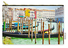 Gondolas On The Grand Canal Venice Italy Carry-all Pouch