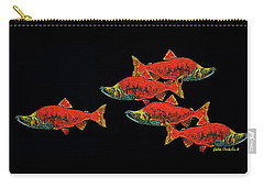 Carry-all Pouch featuring the painting Gone Fishing by Debbie Chamberlin