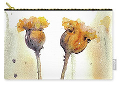 Carry-all Pouch featuring the painting Gone To Seed by Dawn Derman