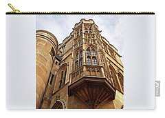 Carry-all Pouch featuring the photograph Gonville And Caius College Library Cambridge by Gill Billington