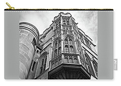 Carry-all Pouch featuring the photograph Gonville And Caius College Library Cambridge In Black And White by Gill Billington