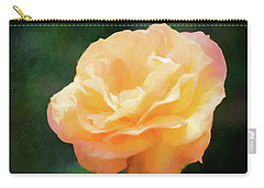 Good As Gold Painted Rose Carry-all Pouch