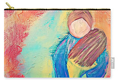 Carry-all Pouch featuring the painting Loved by Jessica Eli