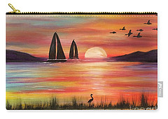 Carry-all Pouch featuring the painting Good Eveving by Denise Tomasura