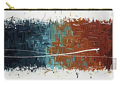 Carry-all Pouch featuring the painting Good Feeling - Abstract Art by Carmen Guedez