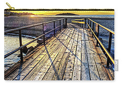 Good Harbor Beach Footbridge Shadows Carry-all Pouch