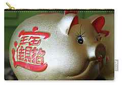 Good Luck Pig Carry-all Pouch by Suhas Tavkar