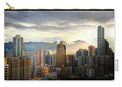 Carry-all Pouch featuring the photograph Good Morning, Hong Kong by Geoffrey C Lewis