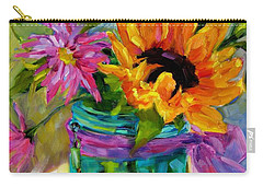 Carry-all Pouch featuring the painting Good Morning Sunshine by Chris Brandley