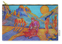 Good Samaritan Parable Painting Bertram Poole Carry-all Pouch by Thomas Bertram POOLE