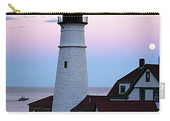 Carry-all Pouch featuring the photograph Goodnight Moon, Goodnight Lighthouse  -98588 by John Bald