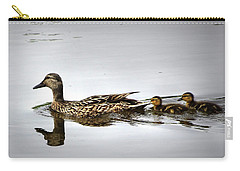 Goose And Goslings Carry-all Pouch