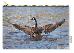 Goose Flapping Wings-rear View Carry-all Pouch