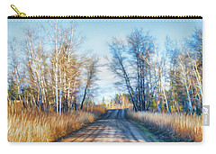 Goose Lake Road Carry-all Pouch by Theresa Tahara