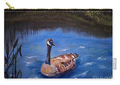 Goose Carry-all Pouch by Leslie Allen
