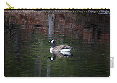 Goose On A Pond Carry-all Pouch