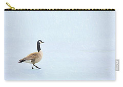 Carry-all Pouch featuring the photograph Goose Step by Nikolyn McDonald