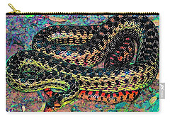 Carry-all Pouch featuring the photograph Gopher Snake by Pamela Cooper