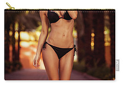 Gorgeous Female On The Beach Carry-all Pouch