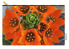 Gorgeous Orange Color Flower Carry-all Pouch