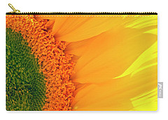 Gorgeous Sunflower Macro Carry-all Pouch