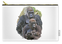 Gorilla Family Portrait Carry-all Pouch