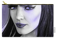 Goth Portrait Purple Carry-all Pouch
