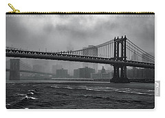 Manhattan Bridge In A Storm Carry-all Pouch