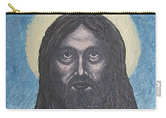 Carry-all Pouch featuring the painting Gothic Jesus by Michael  TMAD Finney